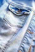 Light blue jeans jacket close up  — Stock Photo