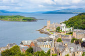 Panorama of Oban, a resort town within the Argyll and Bute council area of Scotland. — Stock Photo