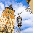 Old Town Hall  (Ratusz) at Main Market Square (Rynek Glowny) in Cracow , Krakow, Poland, Europe — Stock Photo #71647837