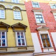 The old, historical tenements at the Old Market Square in Cracow, Poland ( Krakow, Polska) — Stock Photo #71648037