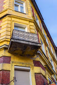 The old, historical tenements at the Old Market Square in Cracow, Poland ( Krakow, Polska) — Stock Photo