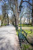 Planty park in Krakow, Poland — Stock Photo