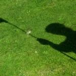 Flag  shadow on golf hole — Stock Photo #61494025