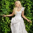 Attractive blonde bride in luxury clothes — Stock Photo #63169957