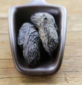 Fragrant tonka bean, vanilla flavor used for baking — Stock Photo
