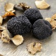 Expensive rare black truffle mushroom - gourmet vegetable — Foto de Stock   #54262419