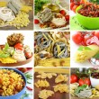 Collage of different kinds of italian pasta — Stock Photo #56546695