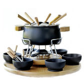 Cookware set for fondue — Stock Photo