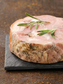 Homemade roast pork carbonate with rosemary and black pepper — Stock Photo