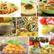 Collage of different kinds of italian pasta — Stock Photo #77259494