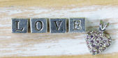 """The word """"LOVE"""" written in metal letters — Stock Photo"""