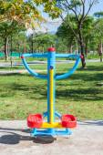 Beautiful modern fitness equipment outdoors — Stock Photo