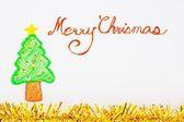 Christmas handwriting typography  — Stock Photo