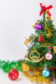 Christmas decoration on a white paper background — Stock Photo