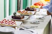 Desserts and Food (Decorating desserts and food that was prepared) — Stock Photo