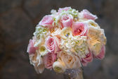 Wedding bouquet with roses — Stock Photo