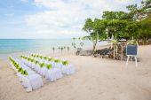 Floral regeling op een ceremonie van het huwelijk — Stockfoto