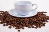 Coffee bean on white paper background — Stock Photo