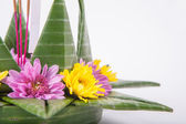 Krathong, the hand crafted floating candle made of floating part — Stock Photo