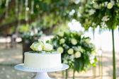 Bolo de casamento branco — Fotografia Stock