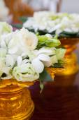 Floral arrangement at a wedding ceremony — Stock Photo