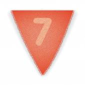 Bunting flag number 7 — Vetorial Stock