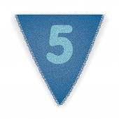 Bunting flag number 5 — Vetorial Stock