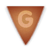 Bunting flag letter G — 图库矢量图片