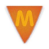 Bunting flag letter M — Stock Vector