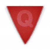 Bunting flag letter Q — ストックベクタ