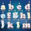 Candle letters from a to m — Stock Vector #60240925