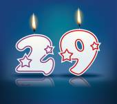 Birthday candle number 29 — Stock Vector