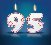 Birthday candle number 95 — Stock Vector