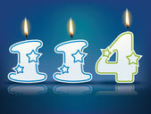 Birthday candle number 114 — Stock Vector