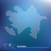 Map of Azerbaijan — Stock Vector