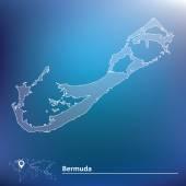 Map of Bermuda — Stock Vector