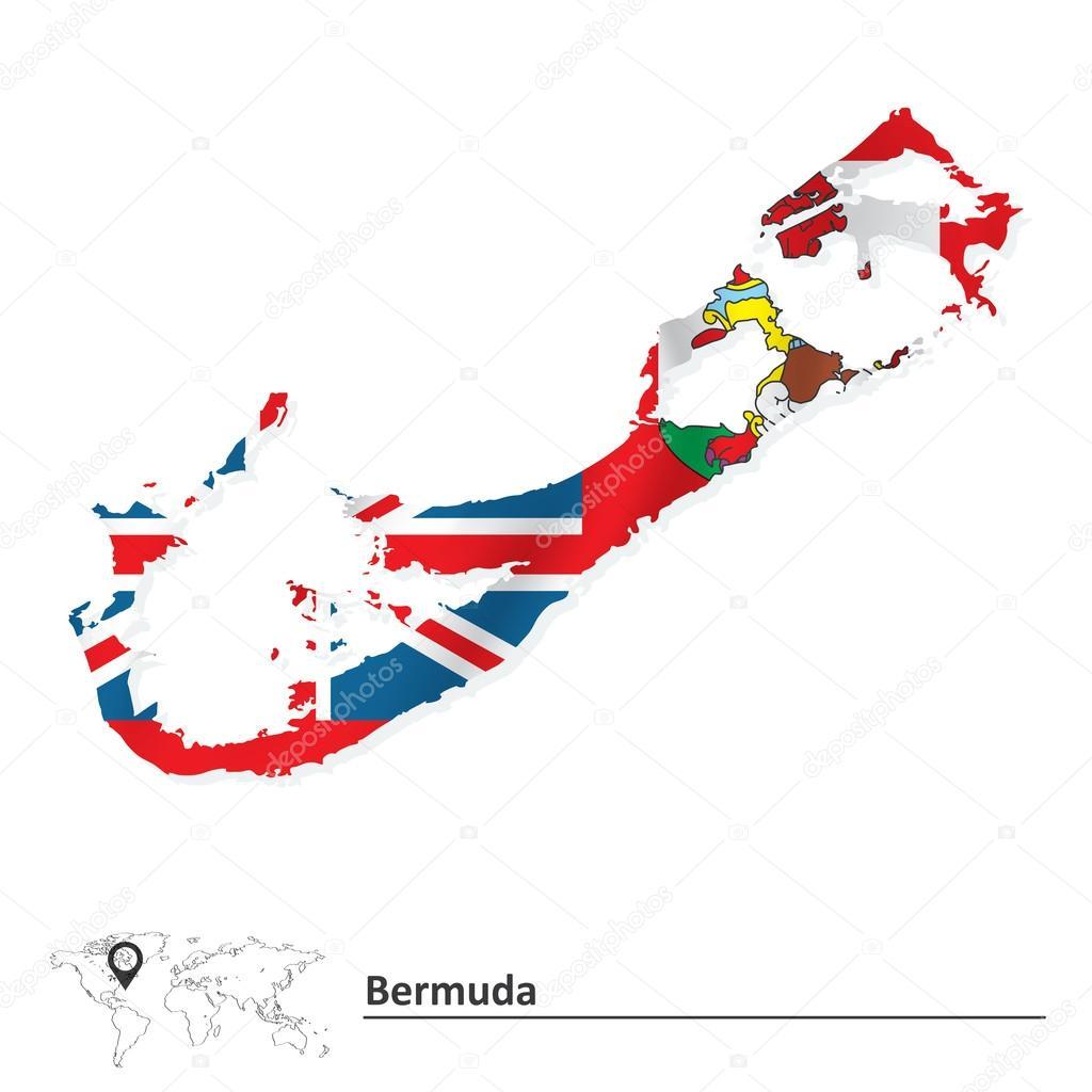 国旗的百慕大地图 — 图库矢量图像08