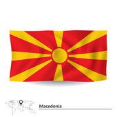 Flag of Macedonia — Stock Vector