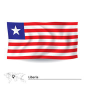 Flag of Liberia — Stock Vector