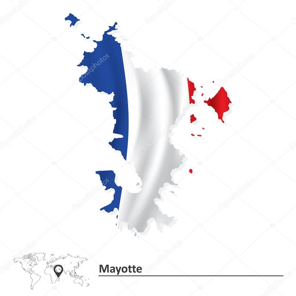 国旗的马约特岛地图 — 图库矢量图像08 lajo_2