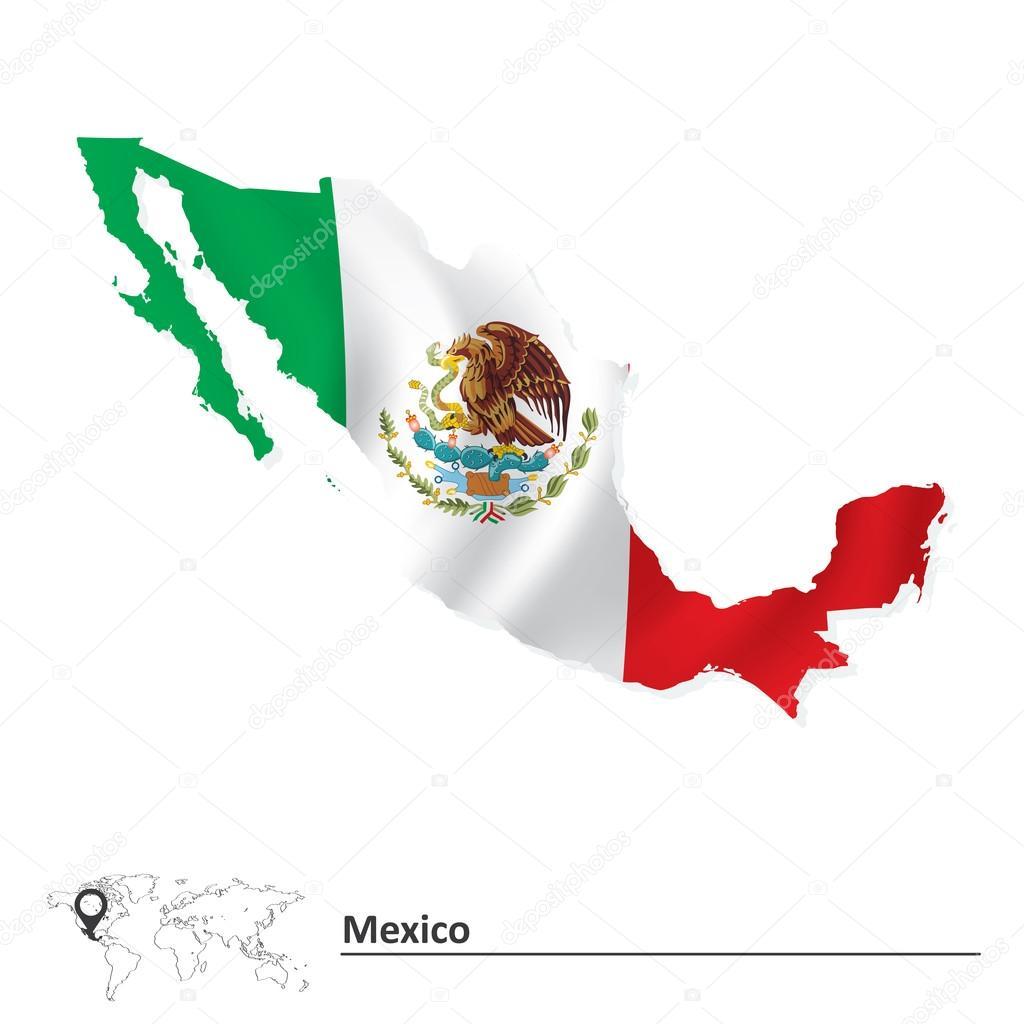 国旗的墨西哥地图 — 图库矢量图像08 lajo_2