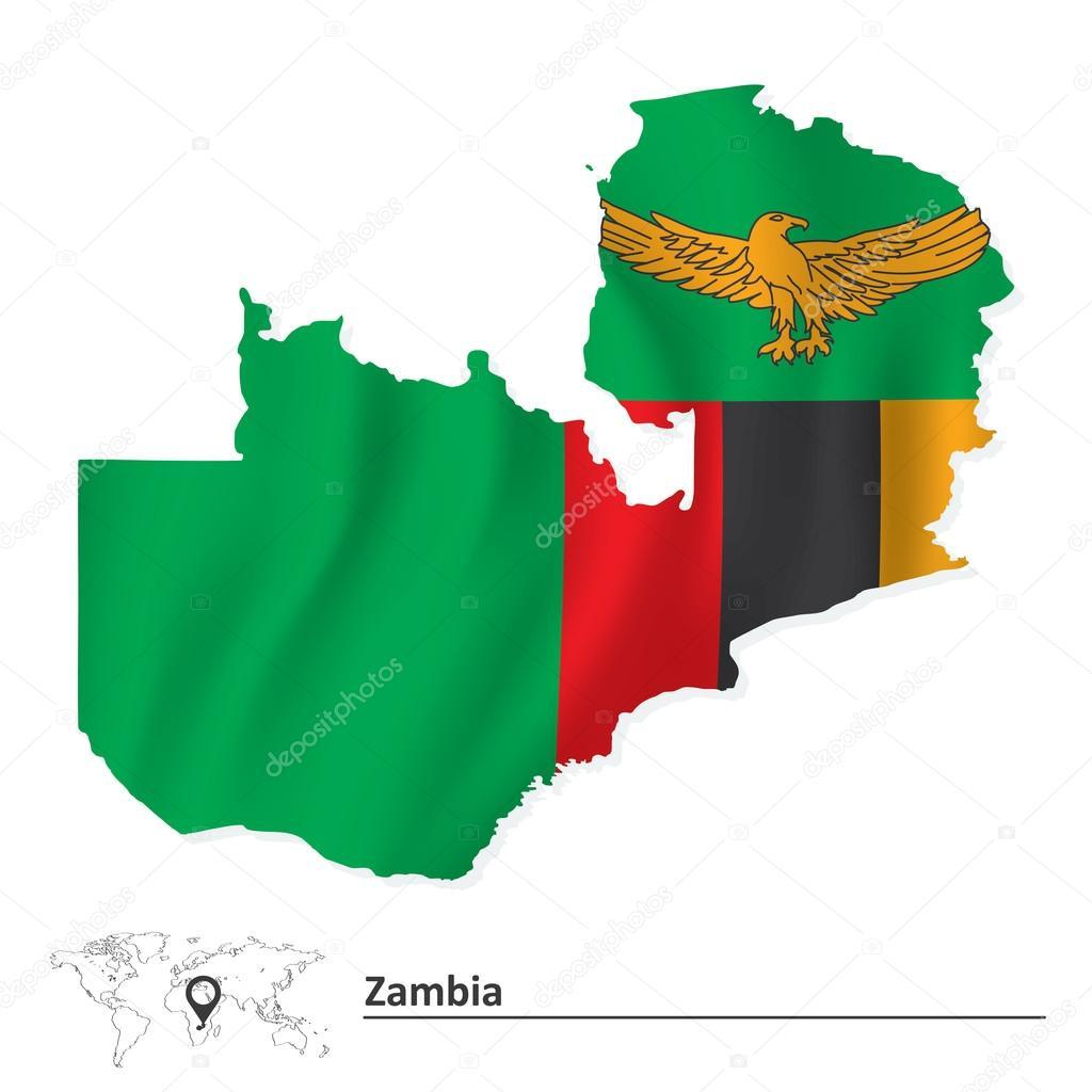 国旗的赞比亚地图 — 图库矢量图像08 lajo_2