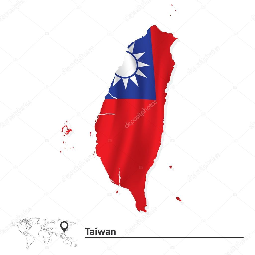 台湾国旗与地图 — 图库矢量图像08 lajo_2