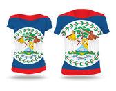 Flag shirt design of Belize — Wektor stockowy