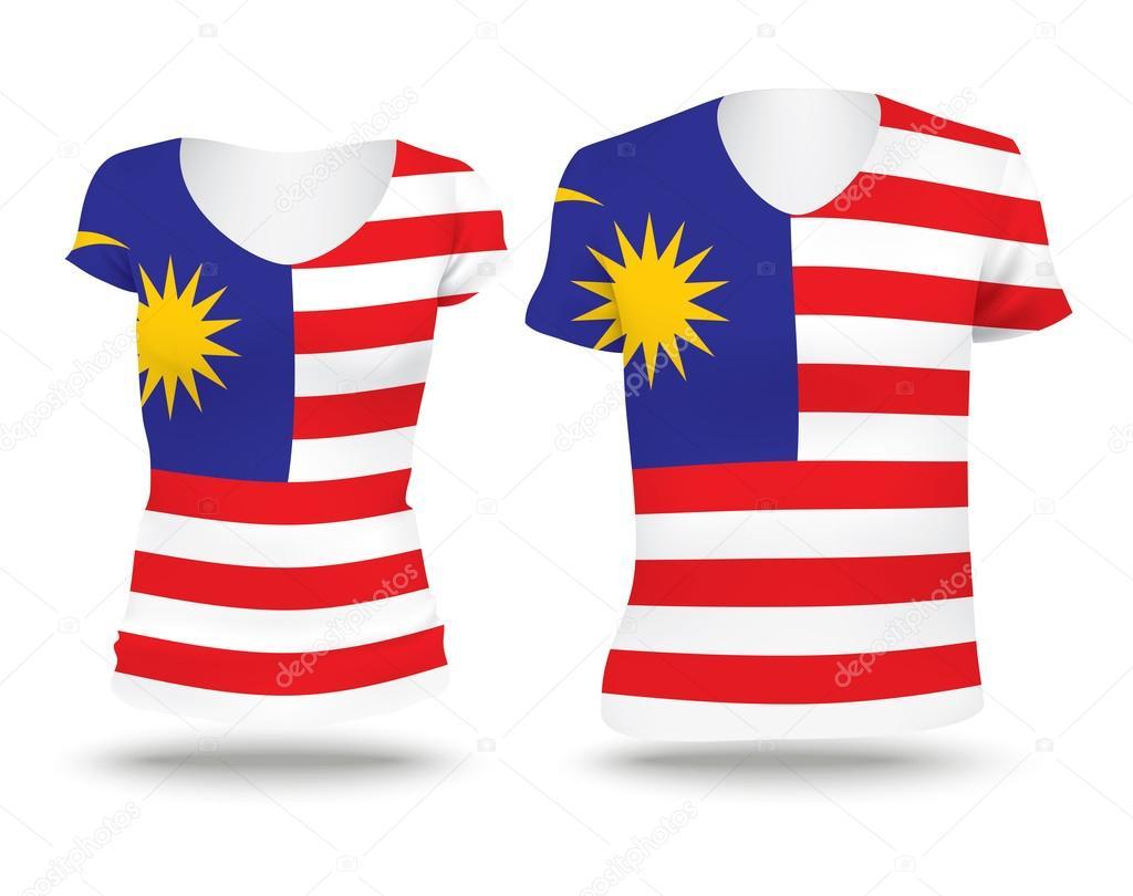 Shirt design malaysia - Flag Shirt Design Of Malaysia Stock Vector 76799301