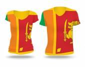 Flag shirt design of Sri Lanka — Stockvektor