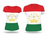 Flag shirt design of Tajikistan — Stock vektor