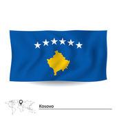 Flag of Kosovo — Stock Vector