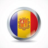Andorra flag button — Stock Vector