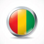 Tlačítko příznak Guinea — Stock vektor
